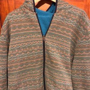 Men's Reversible Fleece Hoodie Jacket.